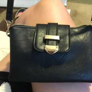 Madison West small, black crossbody bag